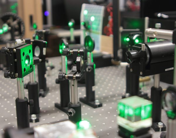 laser scientific optical system for research on crystals properties